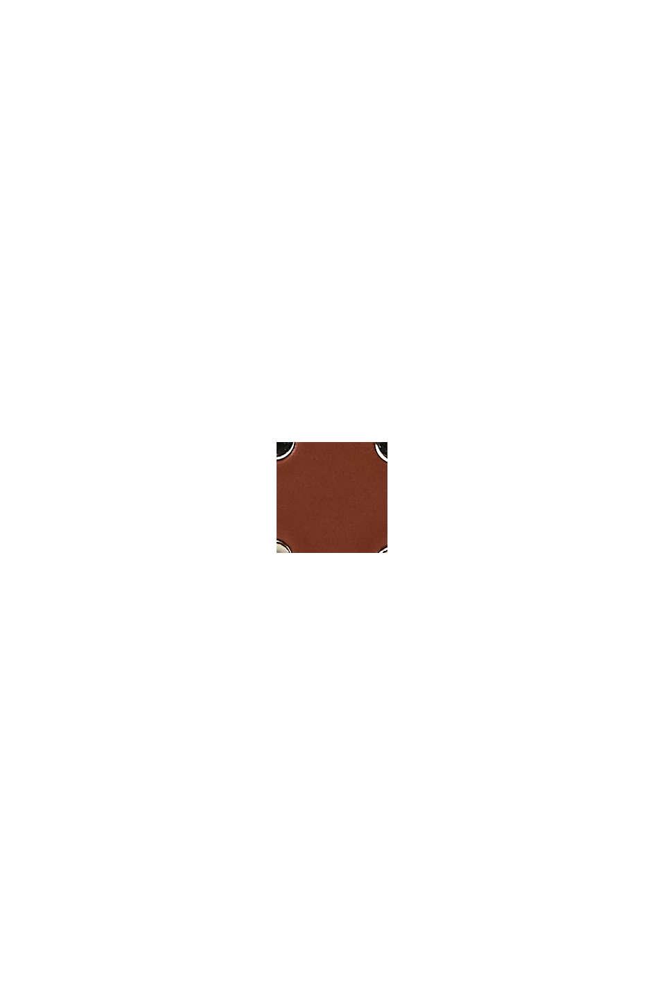 En cuir: la ceinture fine à rivets, RUST BROWN, swatch