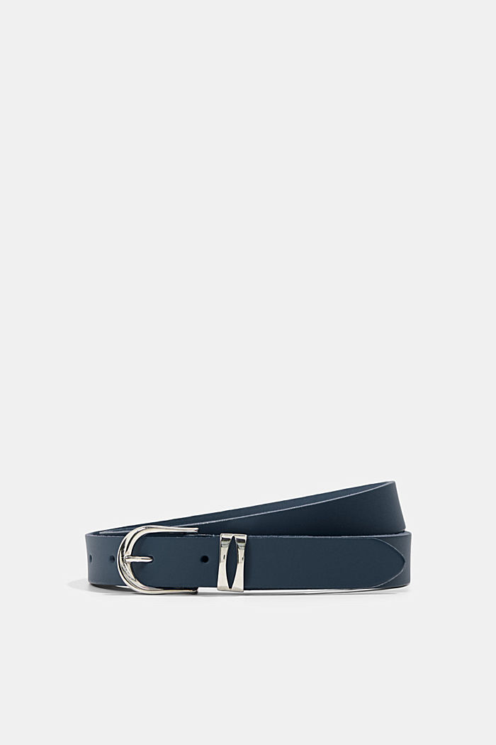 Belts leather, NAVY, detail image number 0