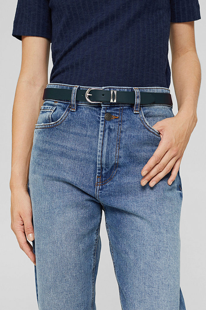 Belts leather, NAVY, detail image number 2