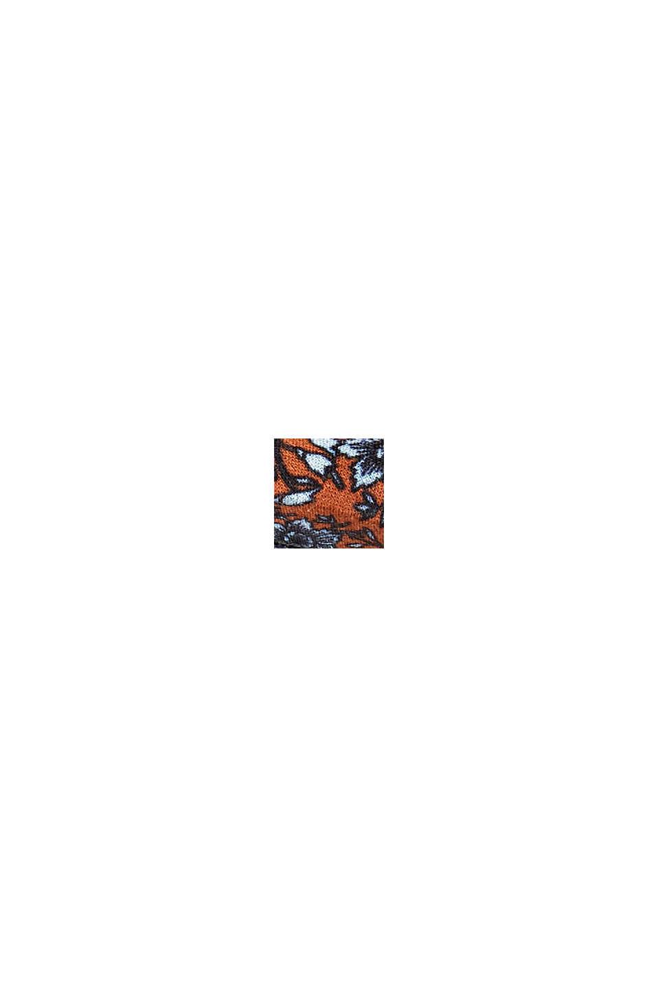 Hårband med blommönster, ekologisk bomull, ORANGE, swatch