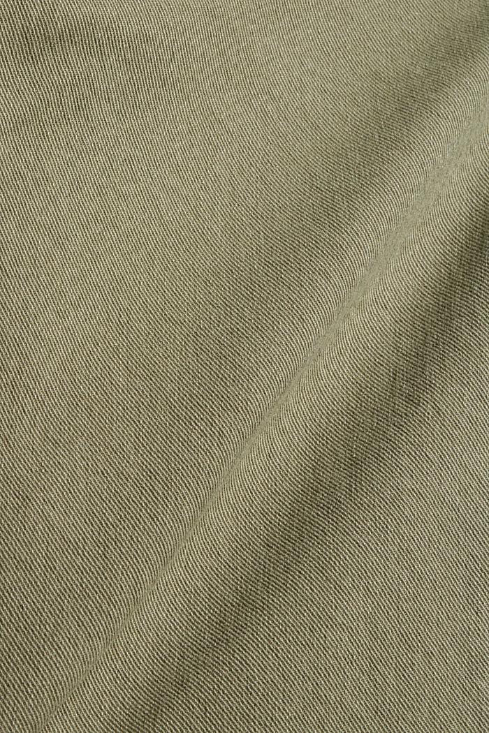 Broek met hoge elastische band, biologisch katoen, LIGHT KHAKI, detail image number 4