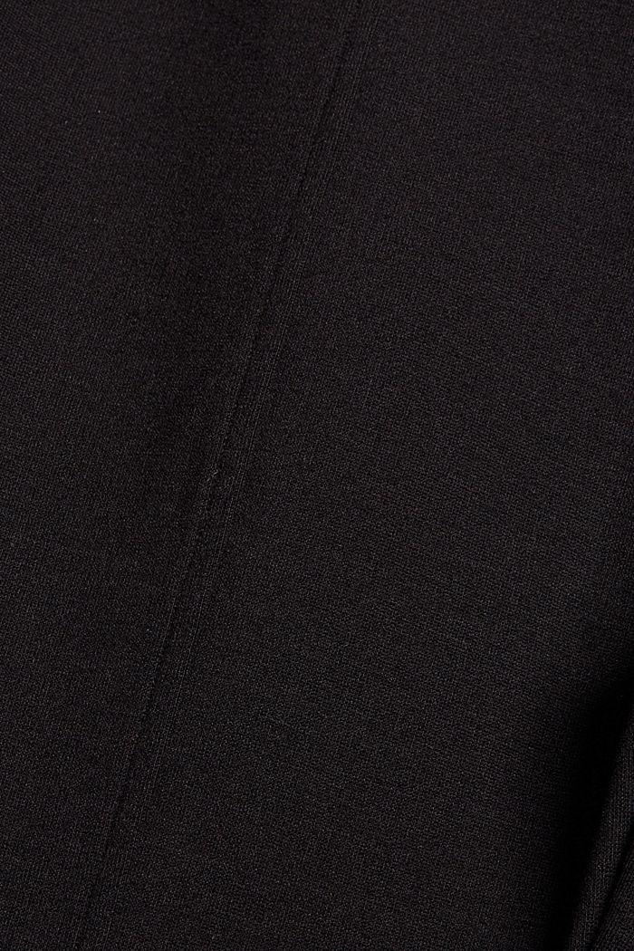 Punto-Treggings mit Schlitzen, LENZING™ ECOVERO, BLACK, detail image number 4