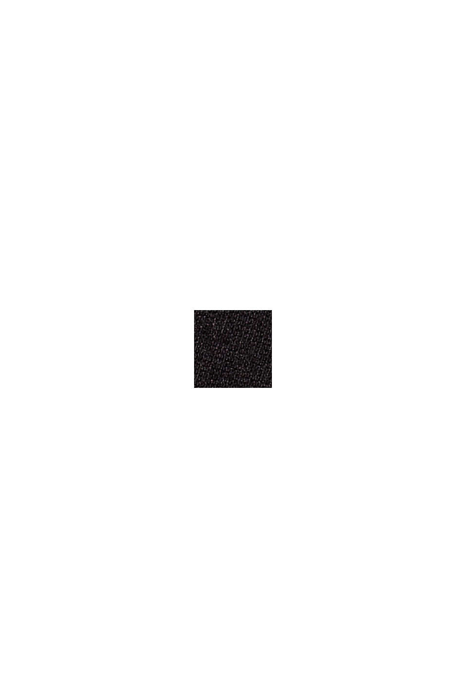 Punto-Treggings mit Schlitzen, LENZING™ ECOVERO, BLACK, swatch