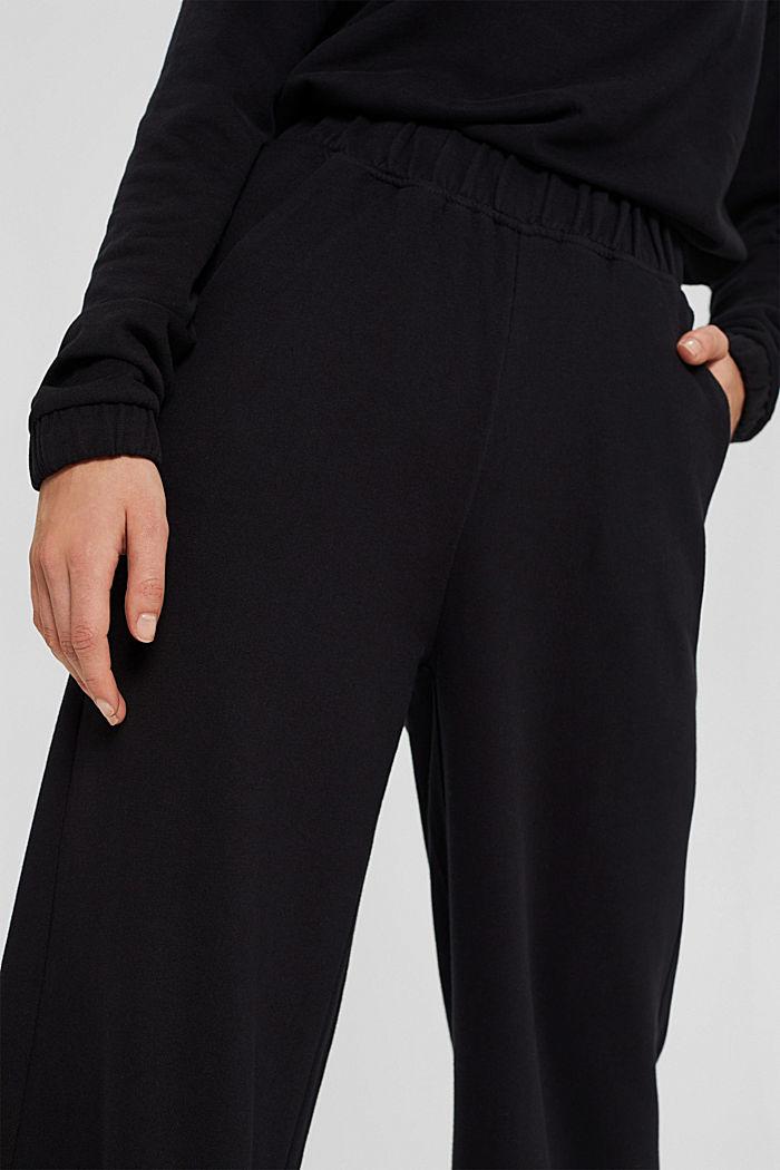 Sweatbroek met wijde pijpen, organic cotton, BLACK, detail image number 2