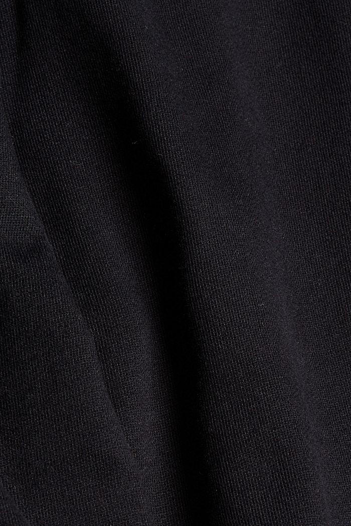 Sweatbroek met wijde pijpen, organic cotton, BLACK, detail image number 4