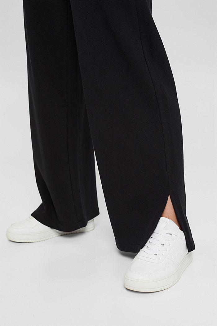 Sweatbroek met wijde pijpen, organic cotton, BLACK, detail image number 5