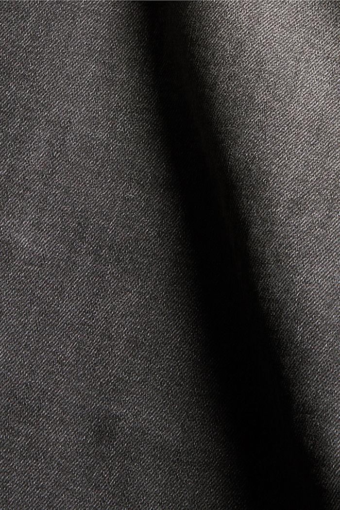 Jean à taille extra haute, coton biologique, GREY MEDIUM WASHED, detail image number 4