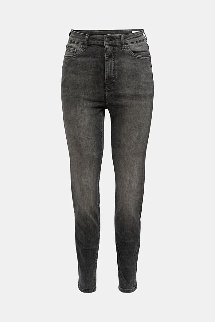 Jeans met een extra hoge band, biologisch katoen