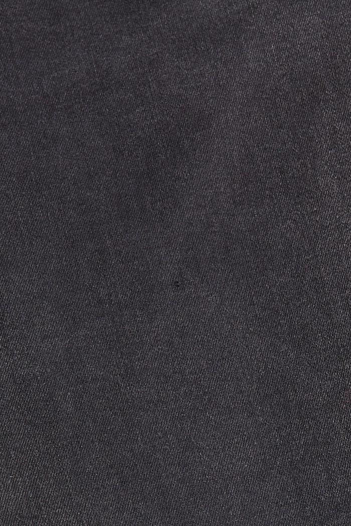 Jean stretch en coton biologique mélangé, BLACK DARK WASHED, detail image number 4