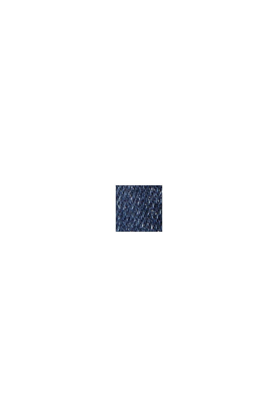 Jeans alla caviglia effetto usato, cotone biologico, BLUE DARK WASHED, swatch