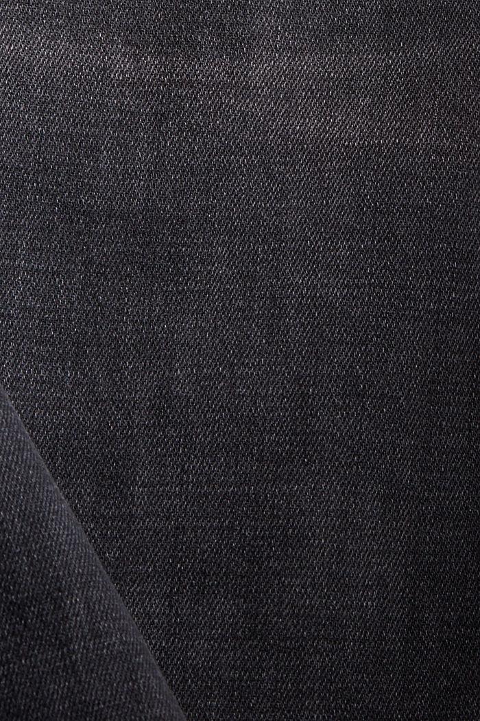 Stretch-Jeans mit hohem Bund, Bio-Baumwolle, BLACK DARK WASHED, detail image number 4