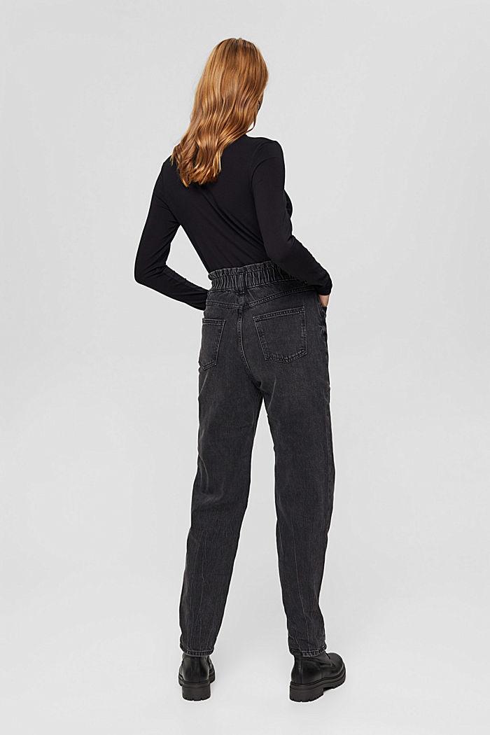 Pants denim Paperbag Fit High Rise, BLACK DARK WASHED, detail image number 3