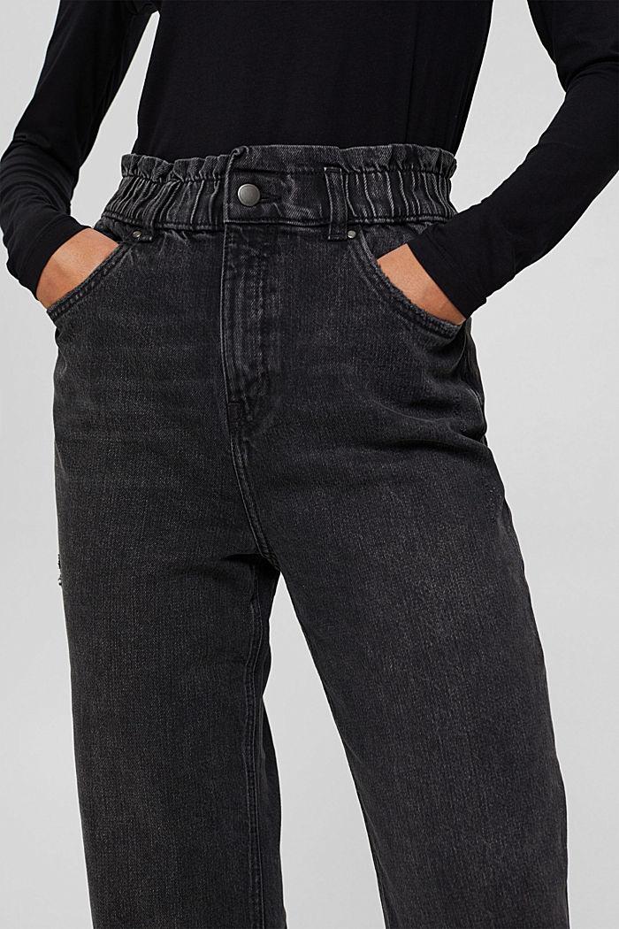 Pants denim Paperbag Fit High Rise, BLACK DARK WASHED, detail image number 2