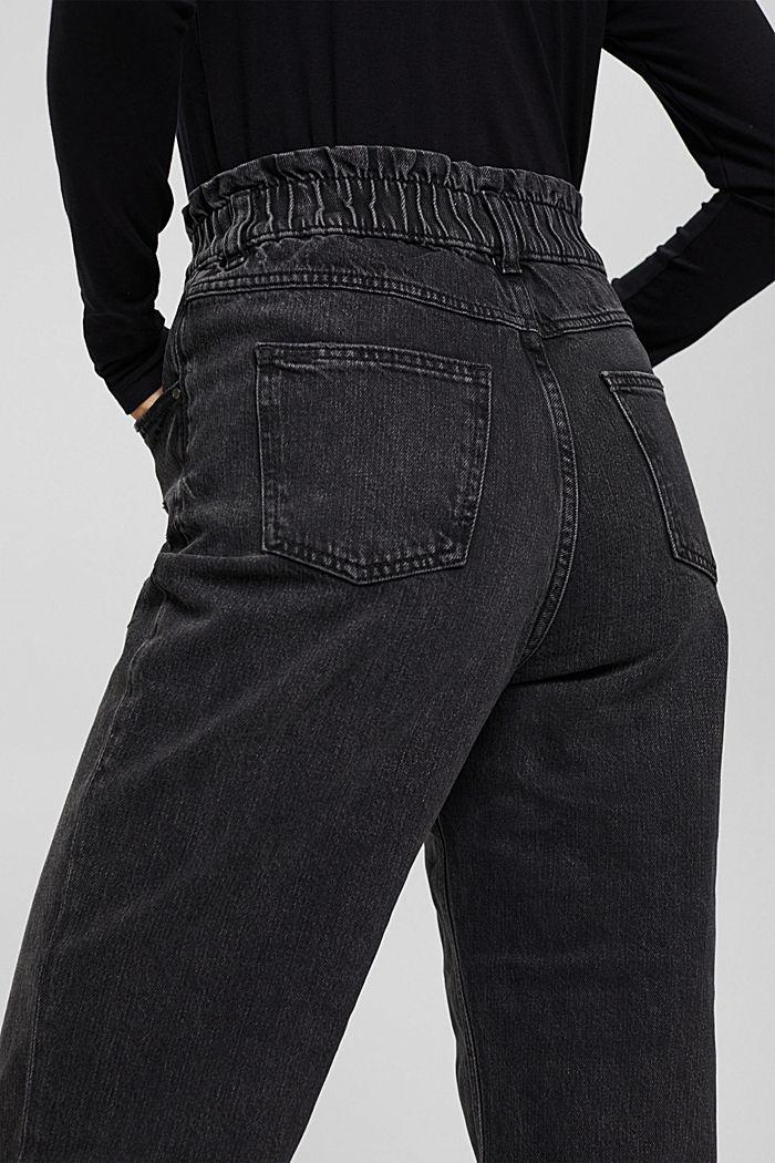 Pants denim Paperbag Fit High Rise, BLACK DARK WASHED, detail image number 5