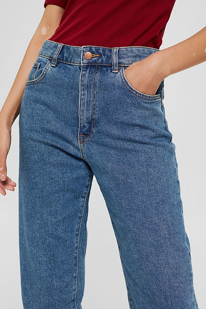 Jean 7/8 de coupe Fashion Fit, coton biologique mélangé, BLUE DARK WASHED, detail image number 2