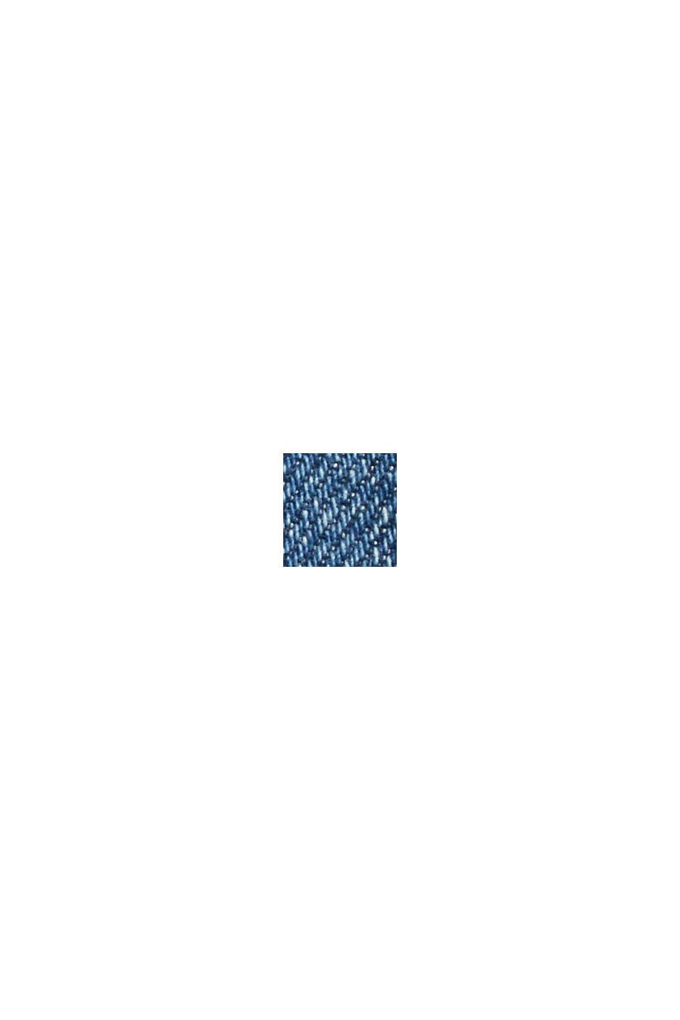7/8-jeans med fashion-fit, økologisk bomuldsblanding, BLUE DARK WASHED, swatch