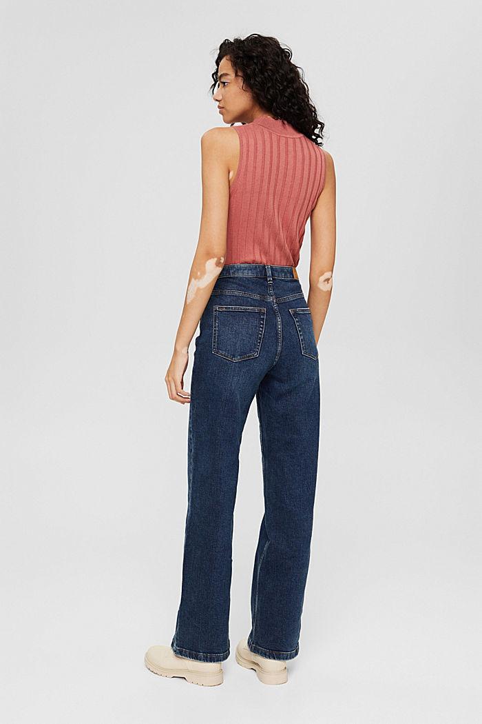 Jeans mit weitem Bein aus Bio-Baumwolle, BLUE DARK WASHED, detail image number 3