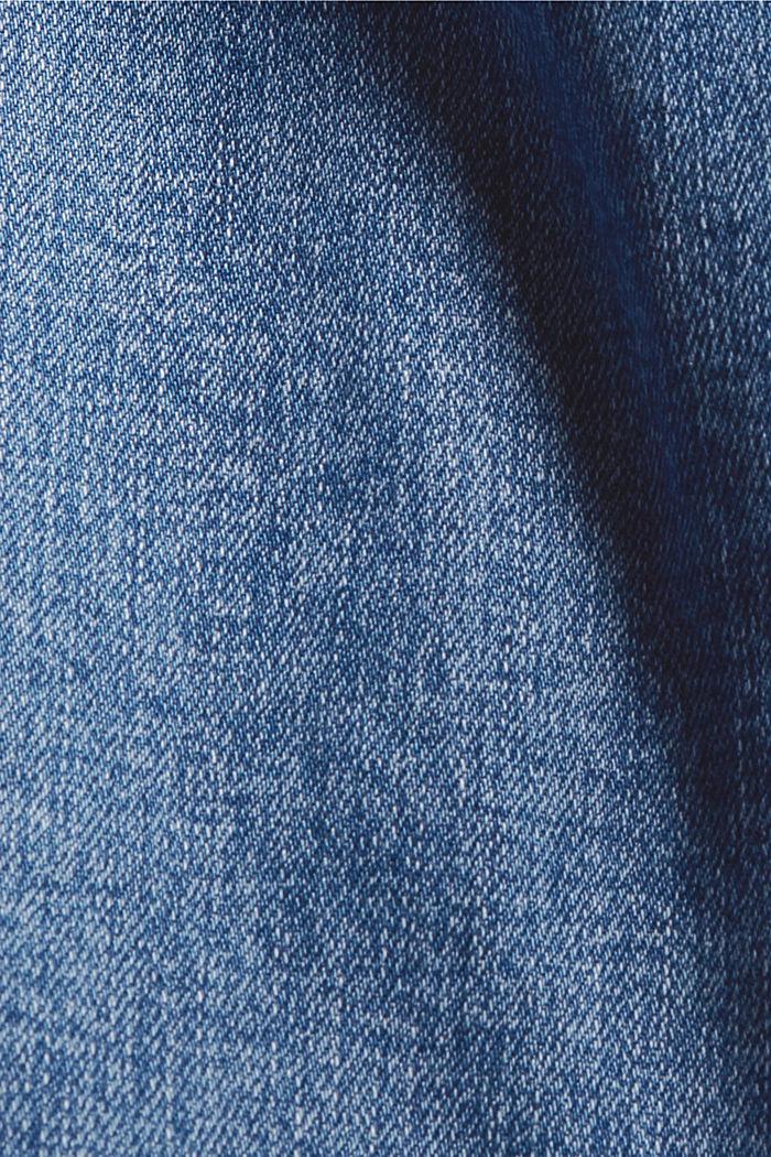 Jean à jambes larges, coton biologique, BLUE MEDIUM WASHED, detail image number 4