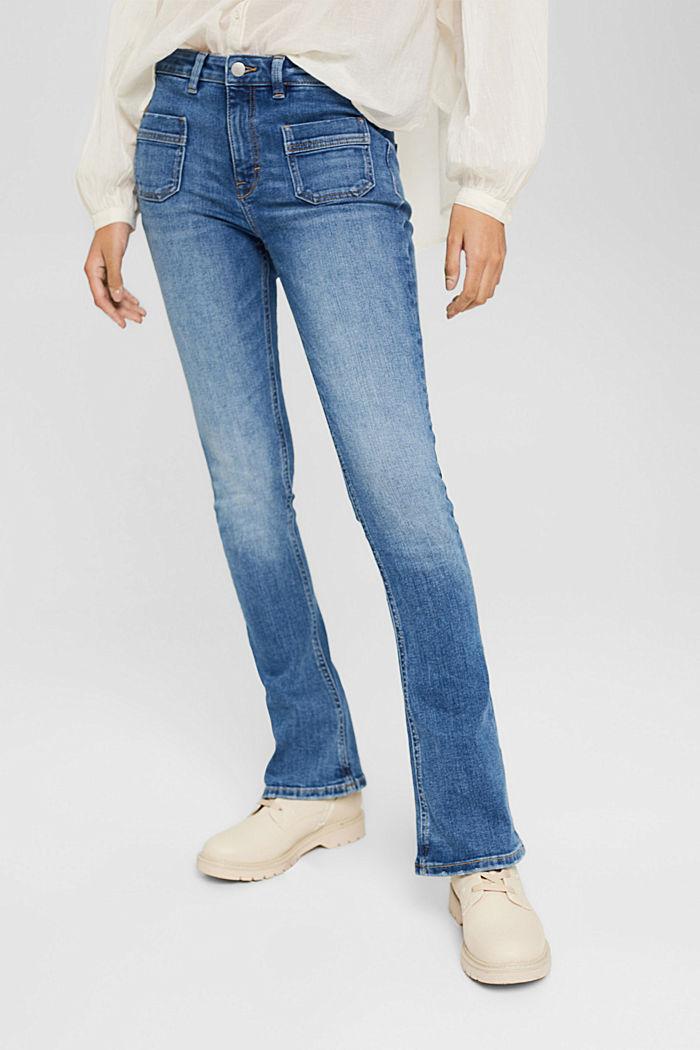 Washed Bootcut-Jeans mit Bio-Baumwolle