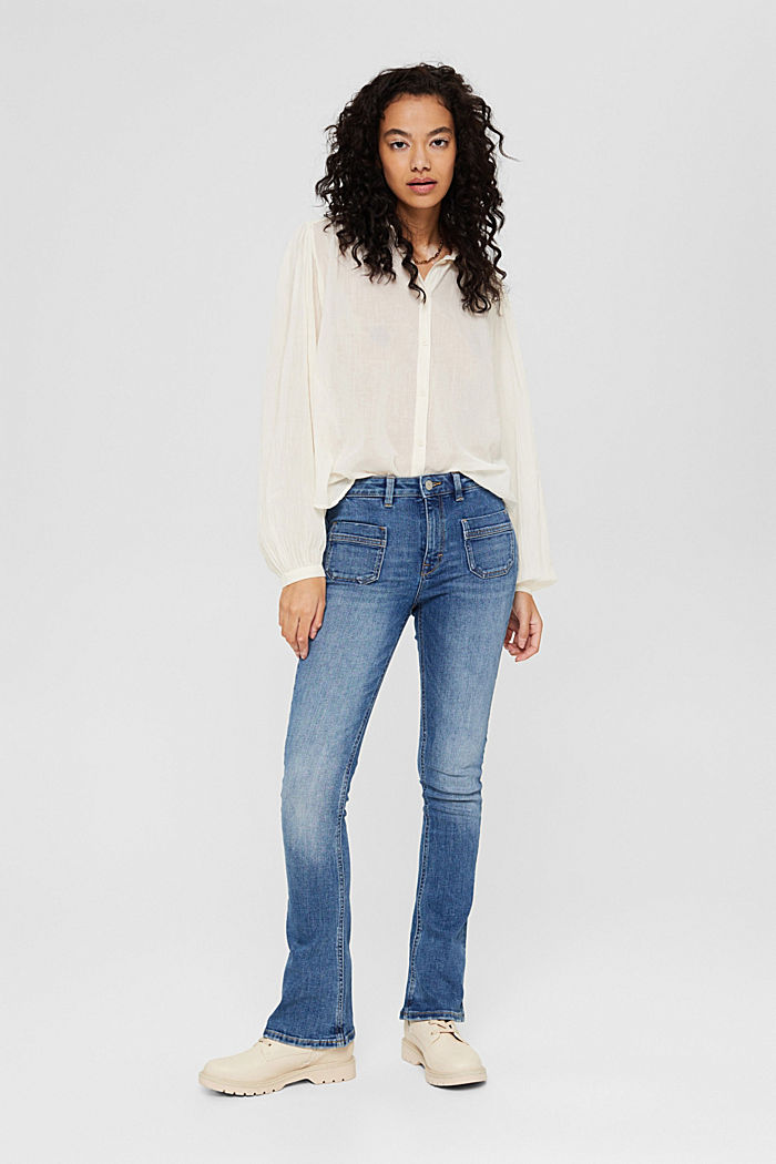 Washed Bootcut-Jeans mit Bio-Baumwolle, BLUE MEDIUM WASHED, detail image number 1