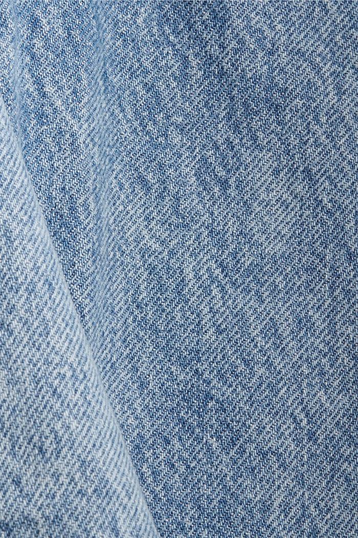 Jeans im Patchwork-Look, 100% Bio-Baumwolle, BLUE MEDIUM WASHED, detail image number 4