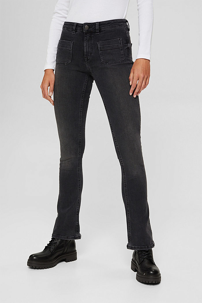 Super stretchy jeans made of blended organic cotton, GREY MEDIUM WASHED, detail image number 0