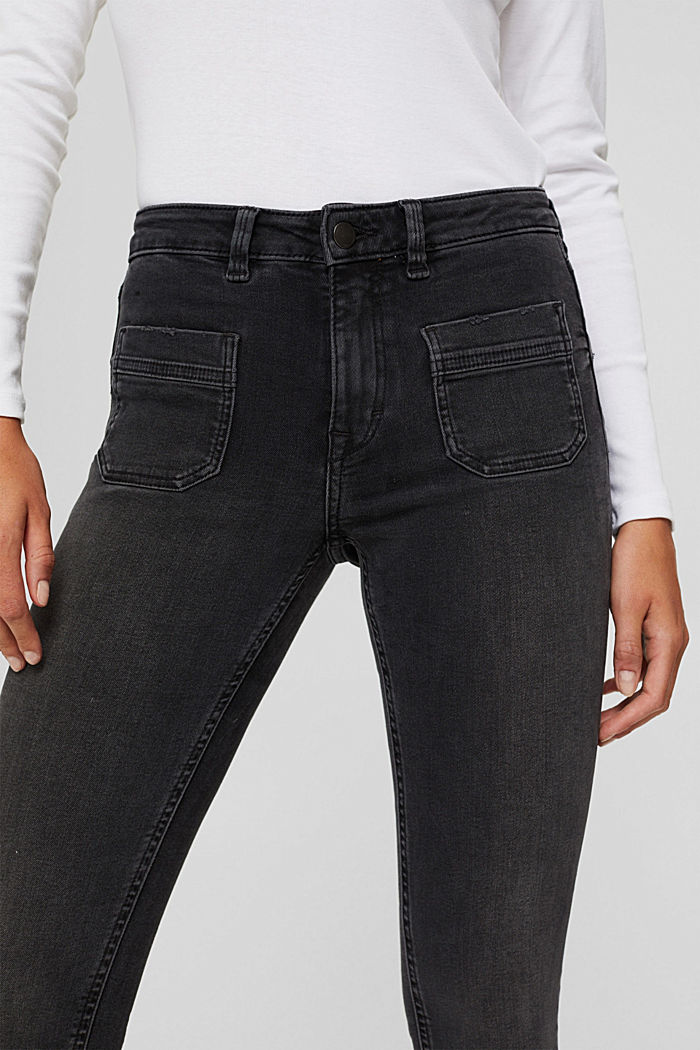 Super stretchy jeans made of blended organic cotton, GREY MEDIUM WASHED, detail image number 2