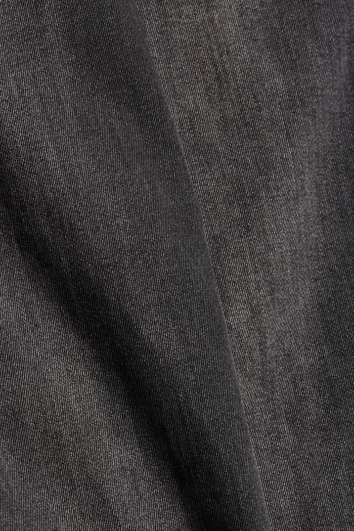 Super stretchy jeans made of blended organic cotton, GREY MEDIUM WASHED, detail image number 4