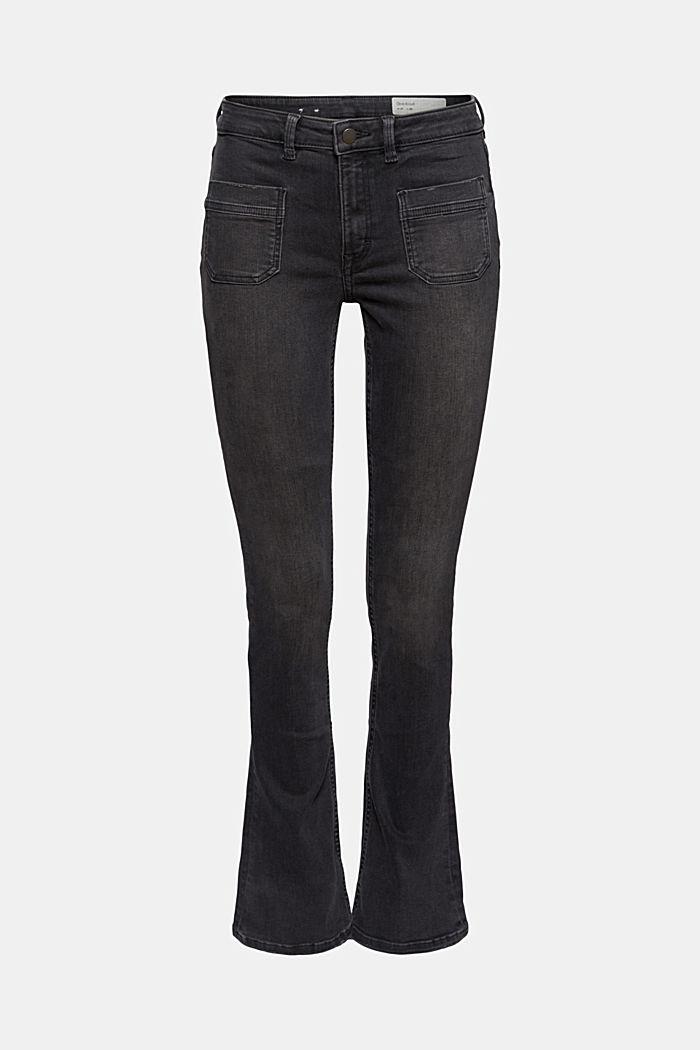 Jeans van een mix met biologisch katoen en superstretch