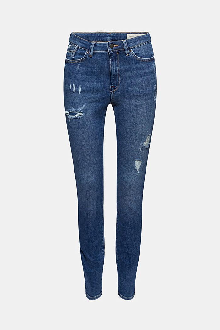 Úzké džíny s poničeným vzhledem, bio bavlna