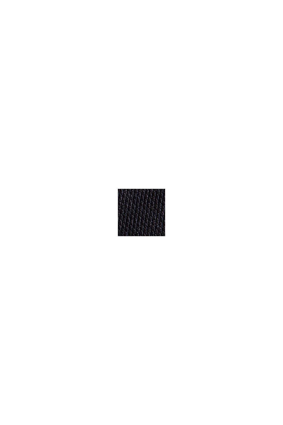 Pantalon en maille piquée à taille élastique, coton biologique, BLACK, swatch
