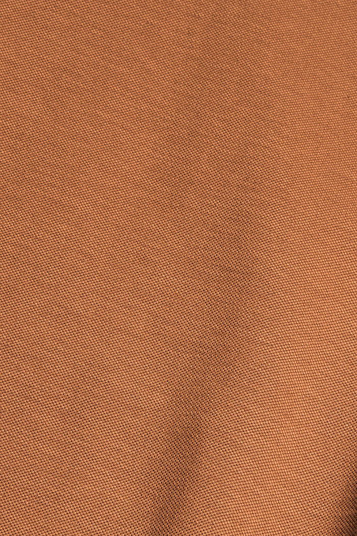 Piqué trousers with an elasticated waistband, organic cotton, BARK, detail image number 4