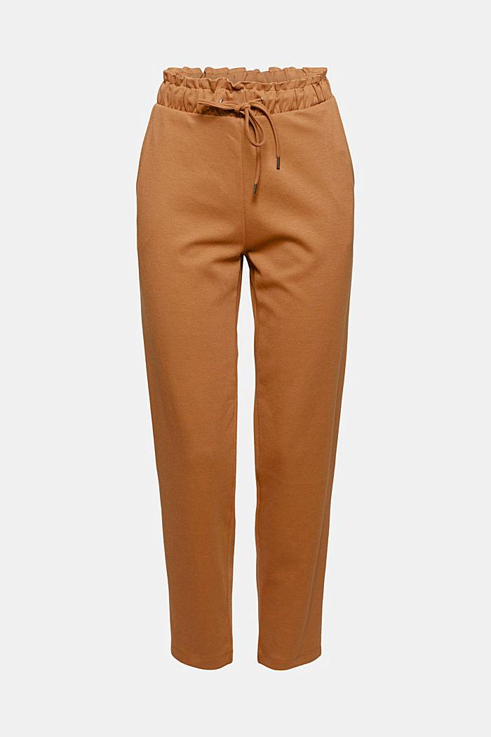 Spodnie z piki z pasem na gumie, bawełna organiczna