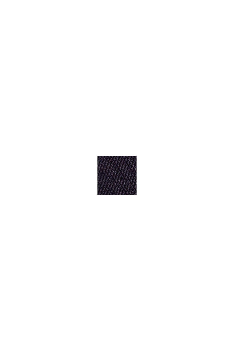 Pantalon en maille piquée à taille élastique, coton biologique, NAVY, swatch