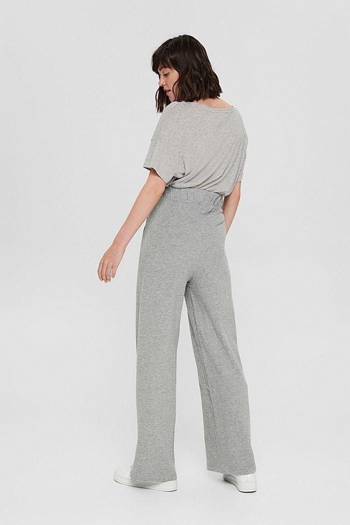 Pantalon de jogging à jambes larges, coton biologique, MEDIUM GREY, detail image number 3