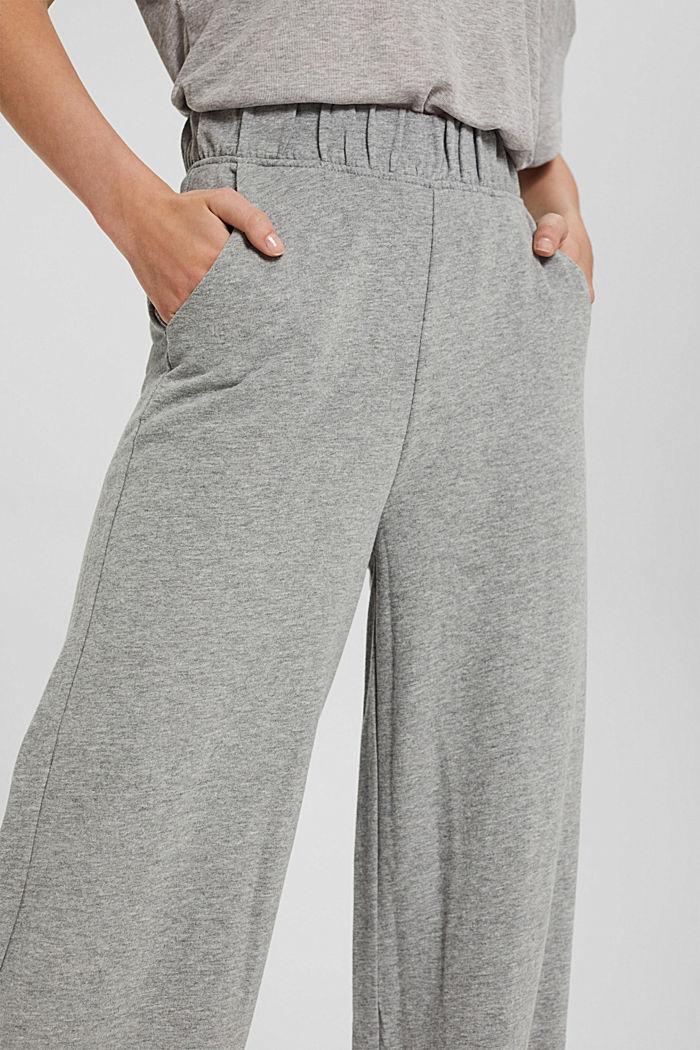 Pantalon de jogging à jambes larges, coton biologique, MEDIUM GREY, detail image number 2