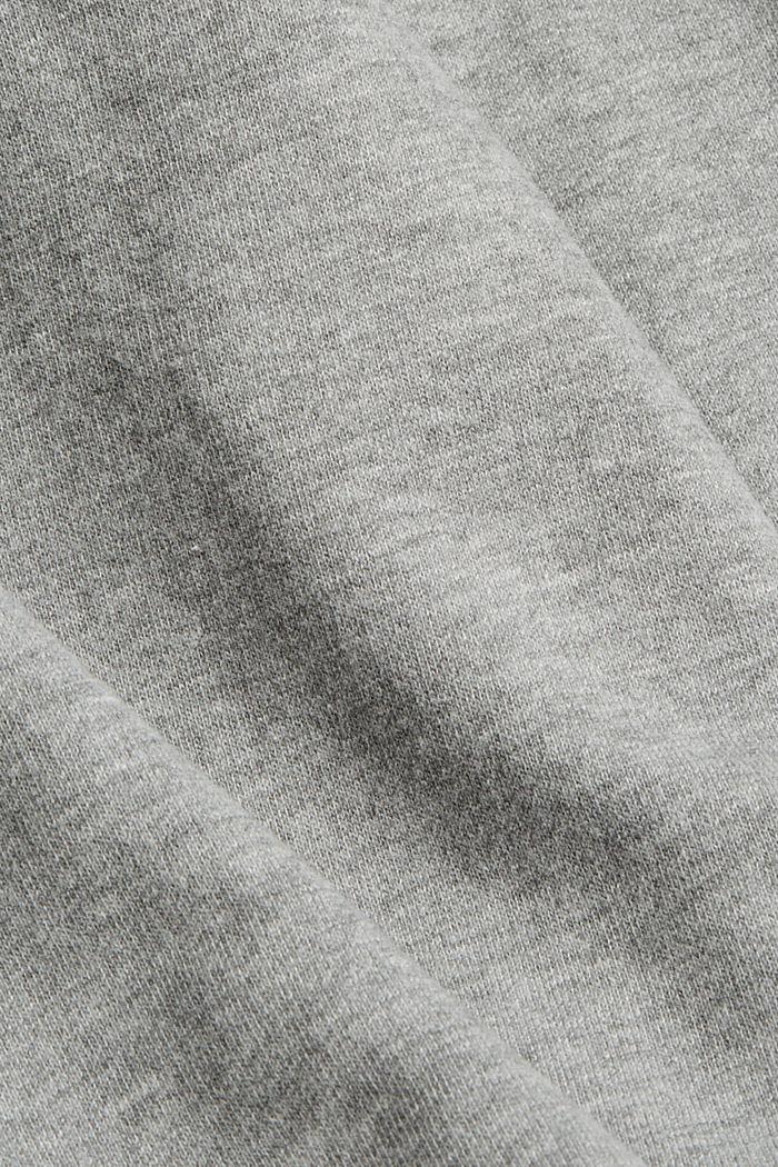 Pantalon de jogging à jambes larges, coton biologique, MEDIUM GREY, detail image number 4