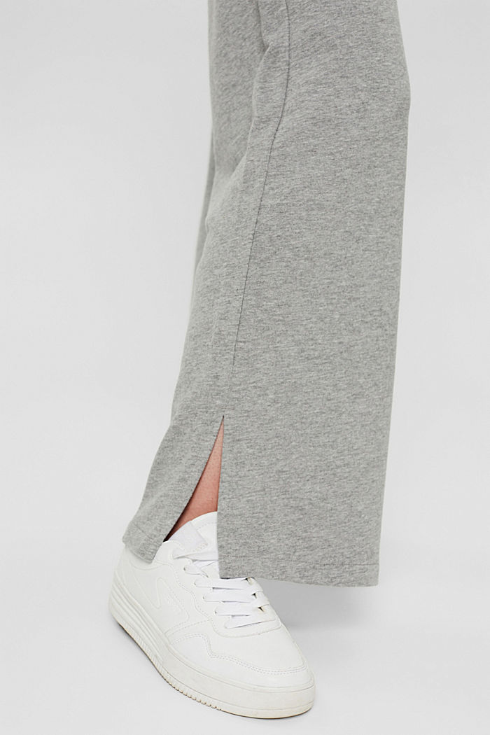 Pantalon de jogging à jambes larges, coton biologique, MEDIUM GREY, detail image number 5