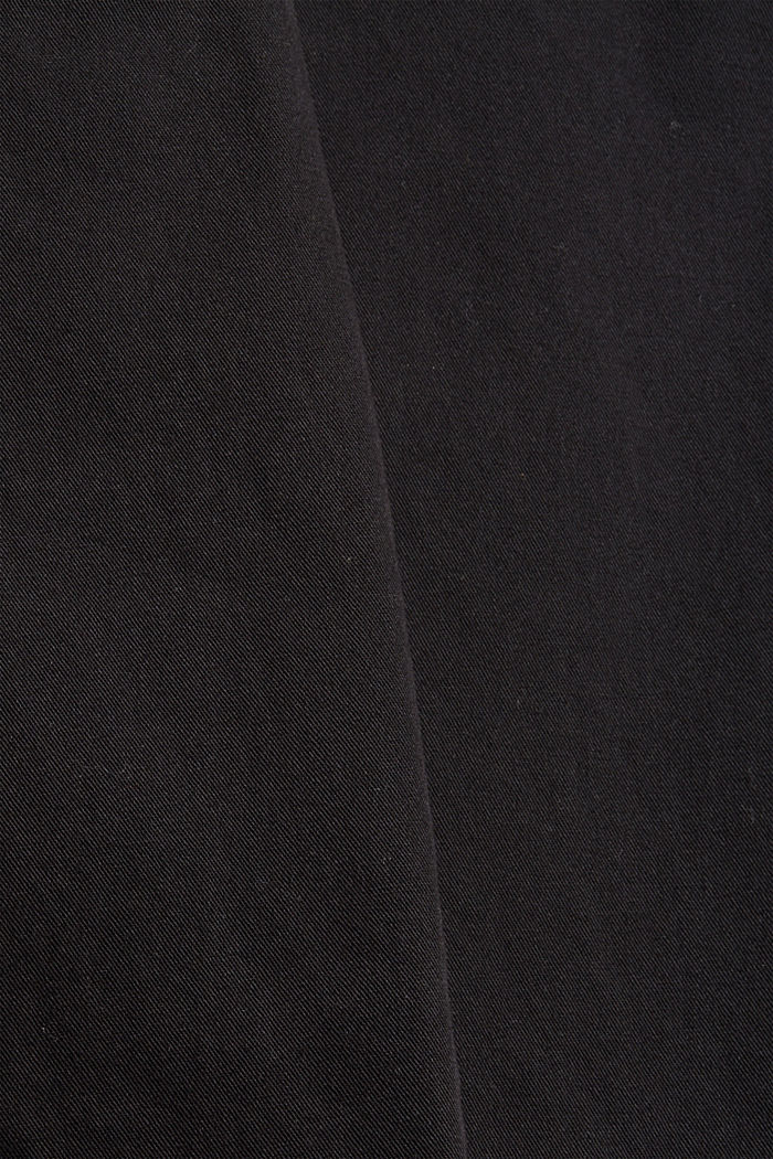 High-rise trousers with a double button, 100% organic cotton, BLACK, detail image number 4