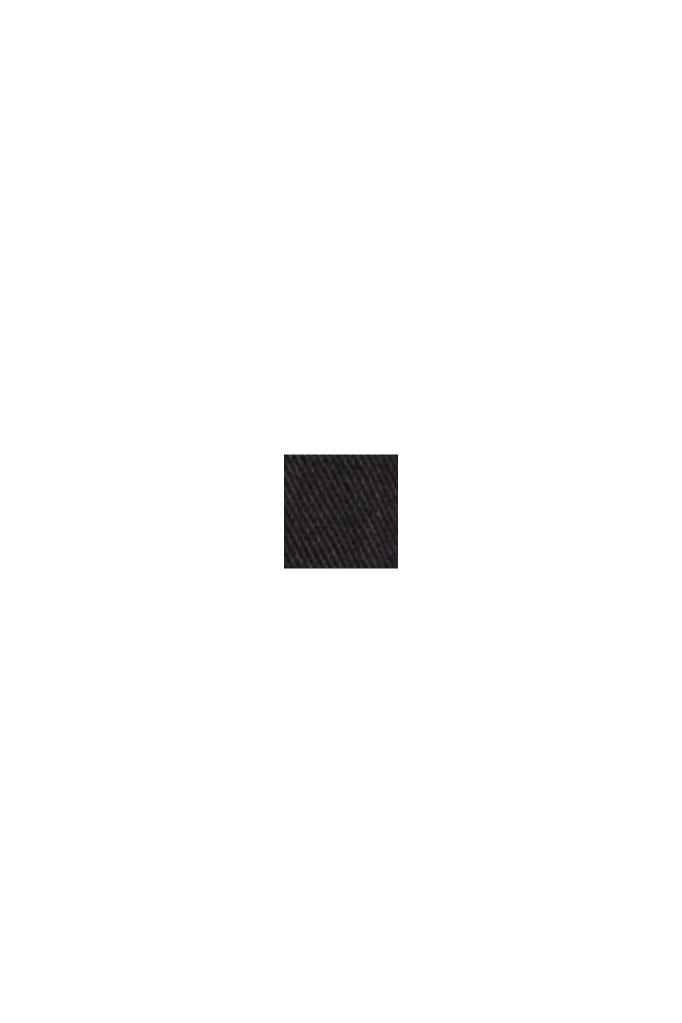 Højtaljede bukser med to knapper, 100% økologisk bomuld, BLACK, swatch