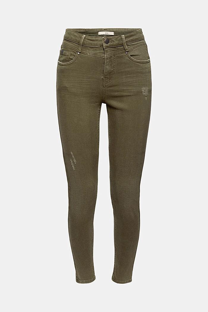 Zkrácené kalhoty s obnošenými detaily