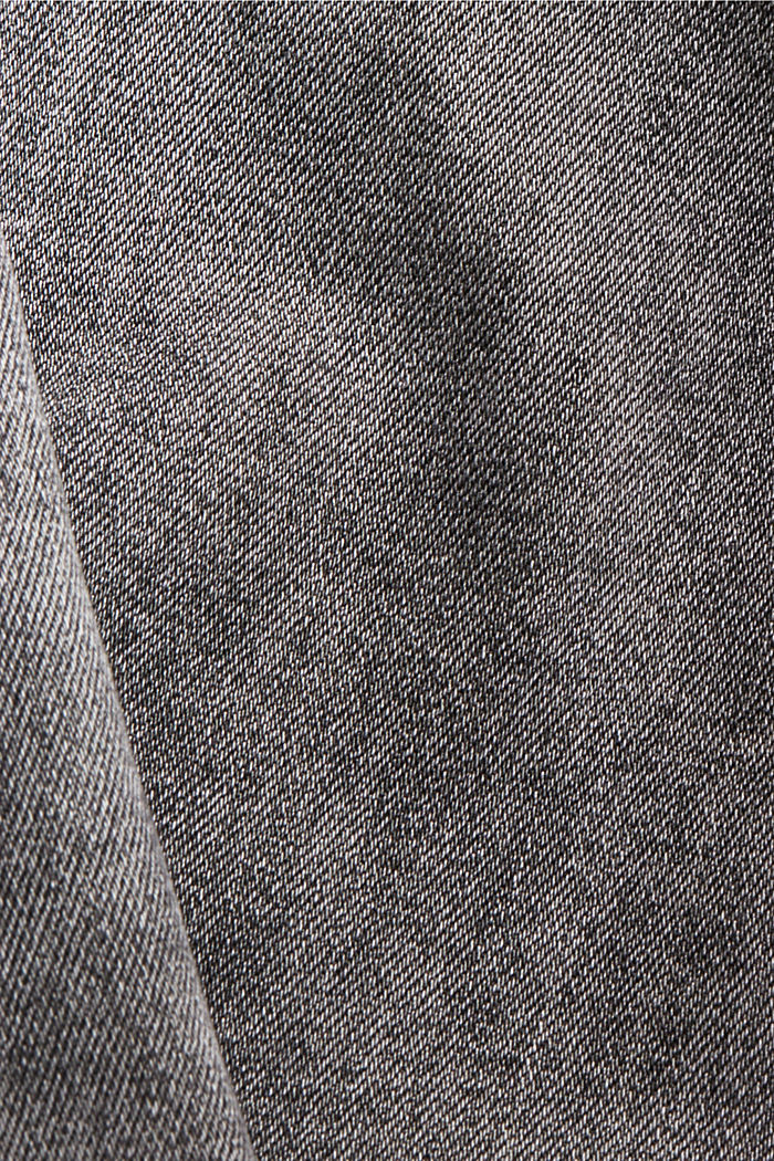 Cropped Used-Stretch-Jeans, Bio-Baumwolle, GREY MEDIUM WASHED, detail image number 4