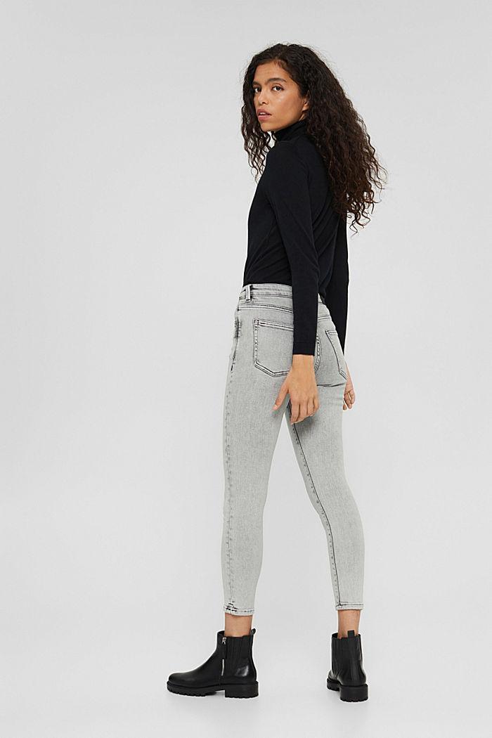 Cropped Jeans mit geschlitztem Saum, BLACK BLEACHED, detail image number 3