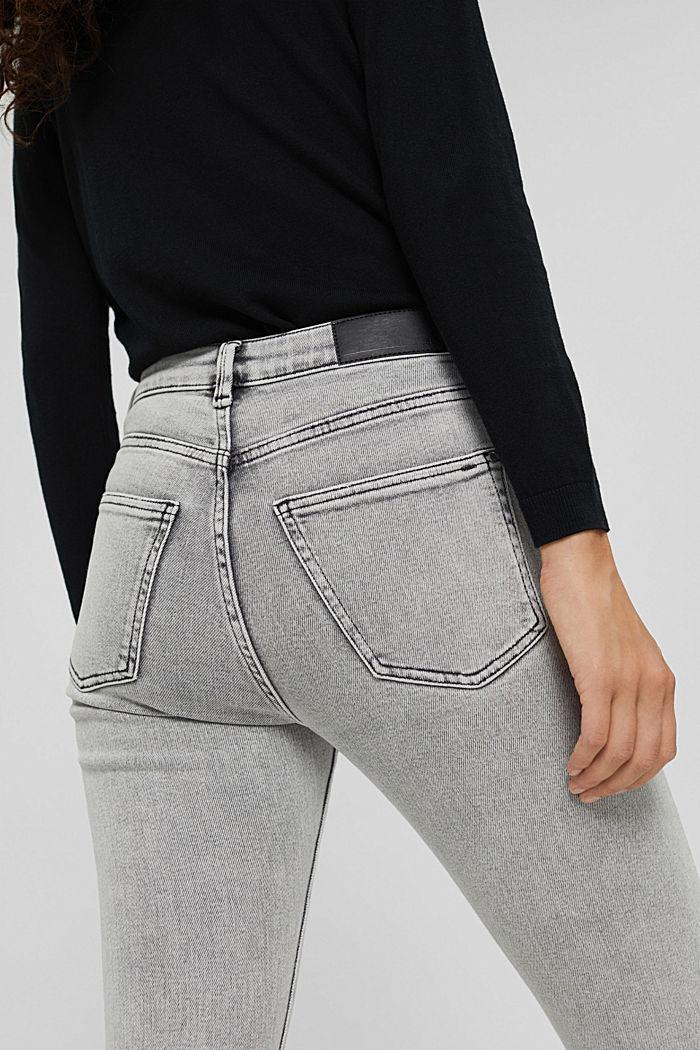 Cropped Jeans mit geschlitztem Saum, BLACK BLEACHED, detail image number 2