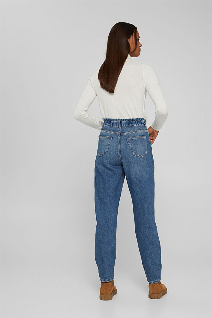 Jeans in a fashionable fit with an elasticated waistband, BLUE MEDIUM WASHED, detail image number 3