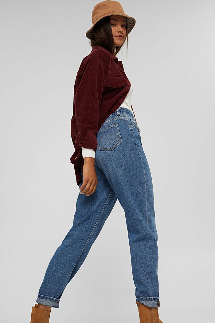 Jeans med fashion-fit og elastisk linning