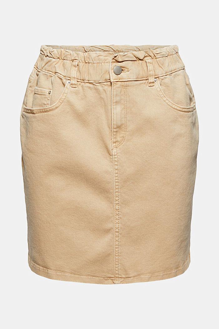 Mini sukně s pasem ve stylu paperbag, bio bavlna