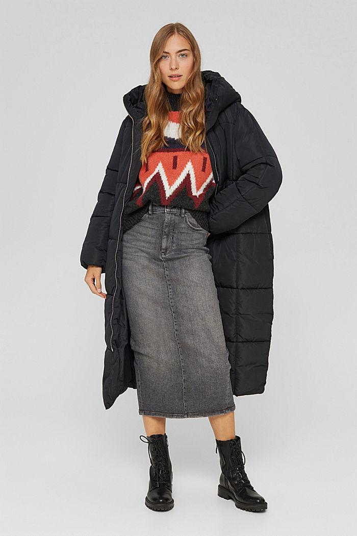 Skirts denim Straight Fit High Rise, BLACK MEDIUM WASHED, detail image number 1