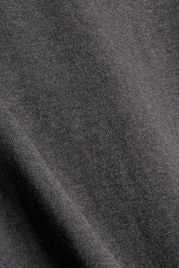 Midirock aus Feinstrick, 100% Baumwolle, ANTHRACITE, detail image number 4