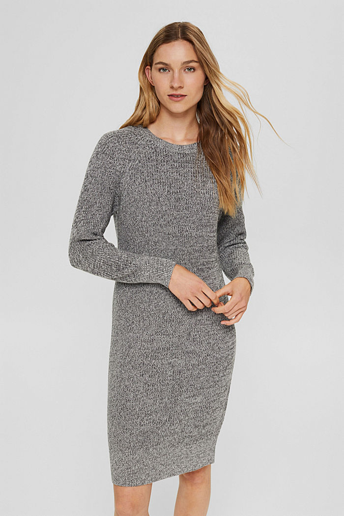 Robe en maille 100% coton, MEDIUM GREY, detail image number 0